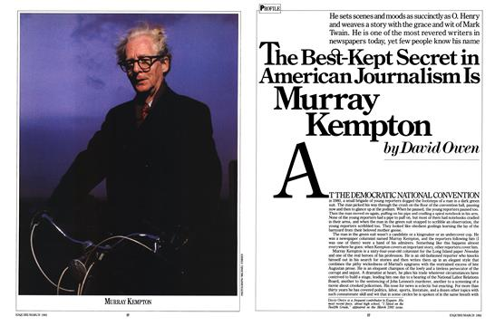The Best-Kept Secret in American Journalism Is Murray Kempton - March | Esquire
