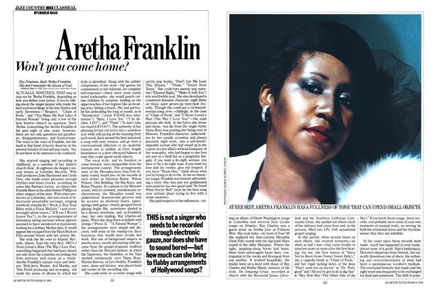 Article Preview: Aretha Franklin, MARCH 1982 1982 | Esquire