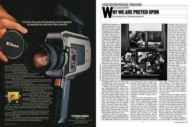Article Preview: Why We Are Preyed Upon, MARCH 1982 1982 | Esquire