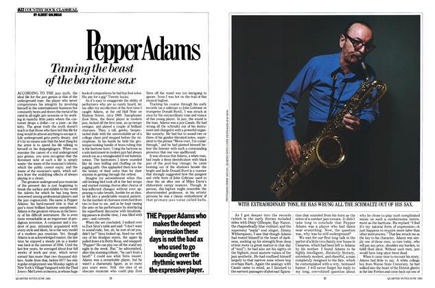 Article Preview: Pepper Adams, JUNE 1982 1982 | Esquire