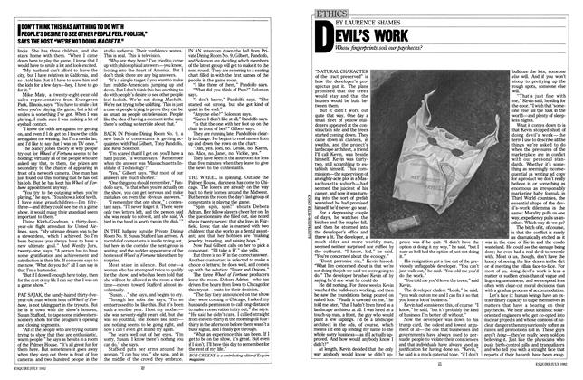Article Preview: Devil's Work, July 1982 | Esquire