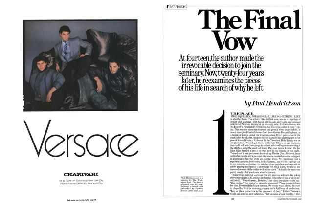 Article Preview: The Final Vow, SEPTEMBER 1982 1982 | Esquire
