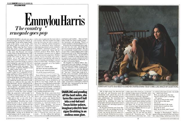 Article Preview: Emmylou Harris, SEPTEMBER 1982 1982 | Esquire