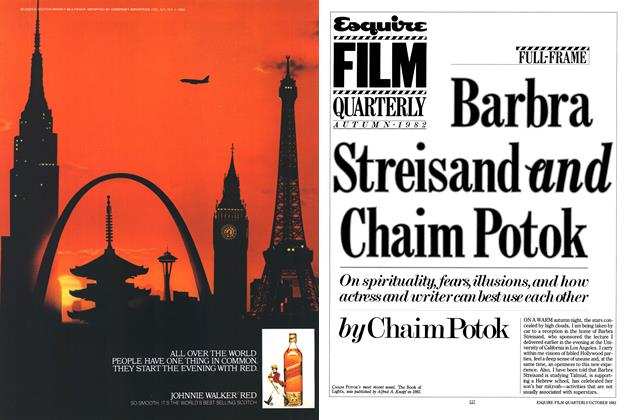 Article Preview: Barbra Streisand and Chaim Potok, OCTOBER 1982 1982 | Esquire