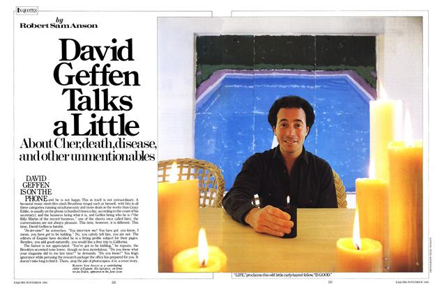 Article Preview: David Geffen Talks a Little, November 1982 | Esquire