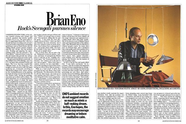 Article Preview: Brian Eno, DECEMBER 1982 1982 | Esquire