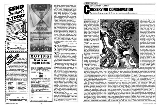 Article Preview: CONSERVING CONSERVATION, December 1982 | Esquire