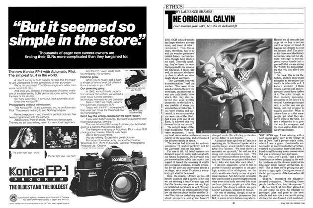 Article Preview: THE ORIGINAL CALVIN, December 1982 | Esquire