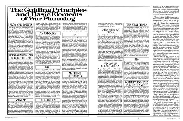 Article Preview: The Guiding Principles and Basic Elements of War Planning, JANUARY 1983 1983 | Esquire