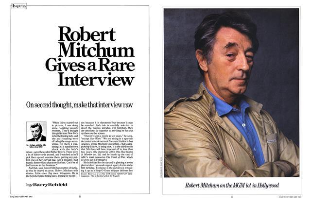Robert Mitchum Gives a Rare Interview