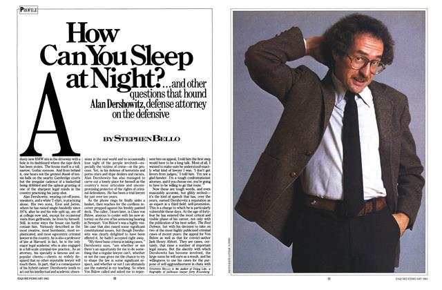 How Can You Sleep at Night?