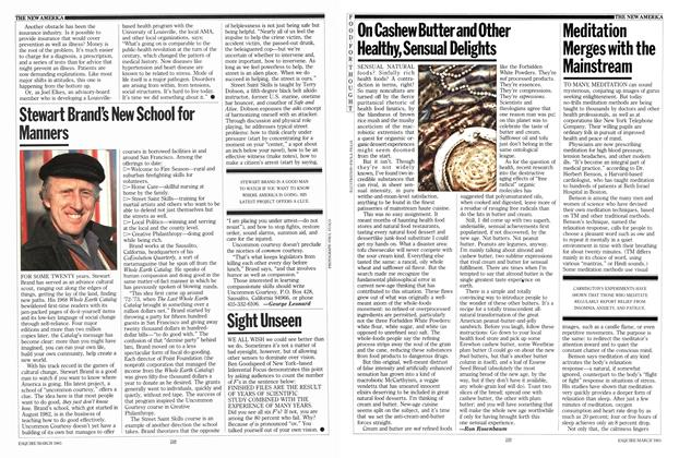 Article Preview: On Cashew Butter and Other Healthy, Sensual Delights, MARCH 1983 1983 | Esquire