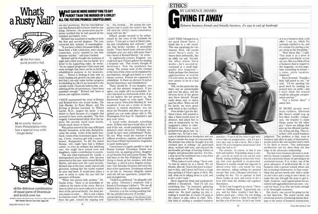 Article Preview: Giving It Away, March 1983 | Esquire