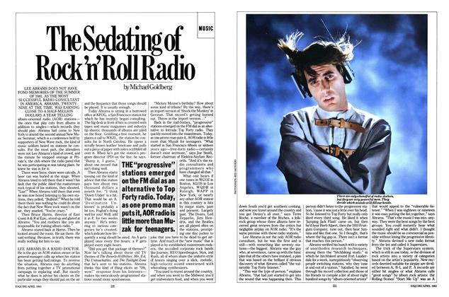 The Sedating of Rock 'n' Roll Radio
