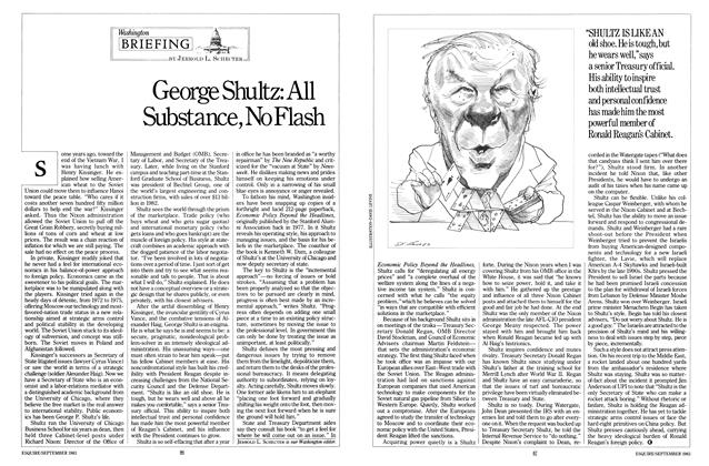 Article Preview: George Shultz: All Substance, No Flash, SEPTEMBER 1983 1983 | Esquire