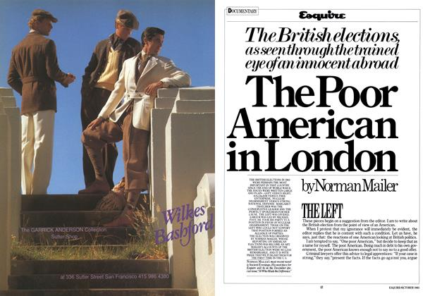 Article Preview: The Poor American in London, OCTOBER 1983 1983 | Esquire