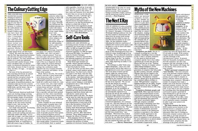 Article Preview: The Culinary Cutting Edge, NOVEMBER 1983 1983 | Esquire