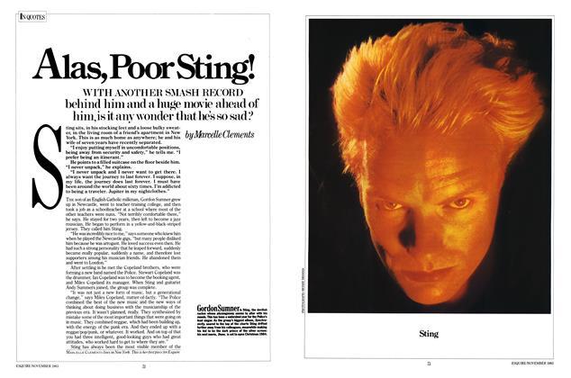 Alas, Poor Sting!