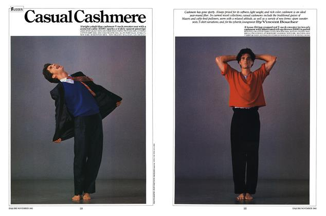 Article Preview: Casual Cashmere, November 1983   Esquire