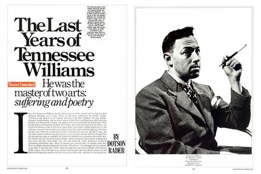The Last Years of Tennessee Williams - December | Esquire