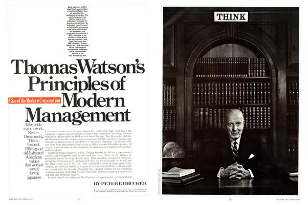 Article Preview: Thomas Watson's Principles of Modern Managethent, DECEMBER 1983 1983 | Esquire