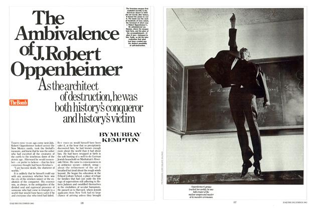 Article Preview: The Ambivalence of J. Robert Oppenheimer, December 1983 | Esquire