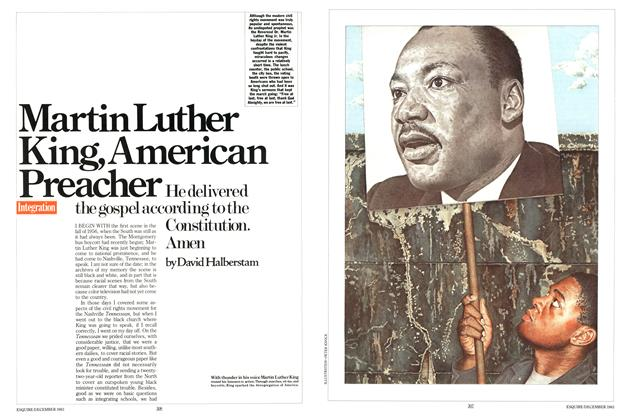 Article Preview: Martin Luther King, American Preacher, DECEMBER 1983 1983 | Esquire