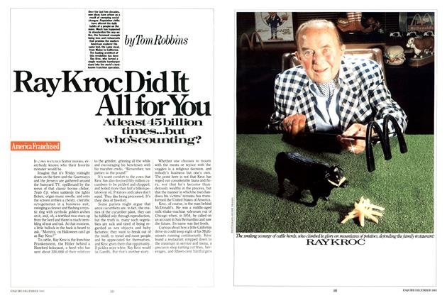 Article Preview: Ray Kroc Did It All for You, DECEMBER 1983 1983 | Esquire