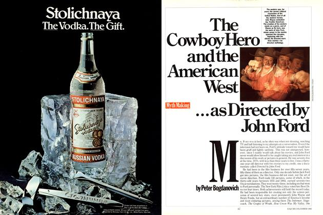 Article Preview: The Cowboy Hero and the American West ...as Directed by John Ford, DECEMBER 1983 1983 | Esquire