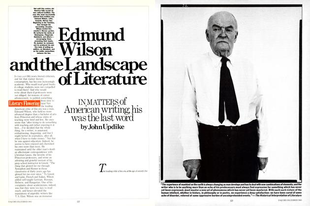 Article Preview: Edmund Wilson and the Landscape of Literature, December 1983 | Esquire