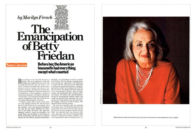 Article Preview: The Emancipation of Betty Friedan, December 1983 | Esquire