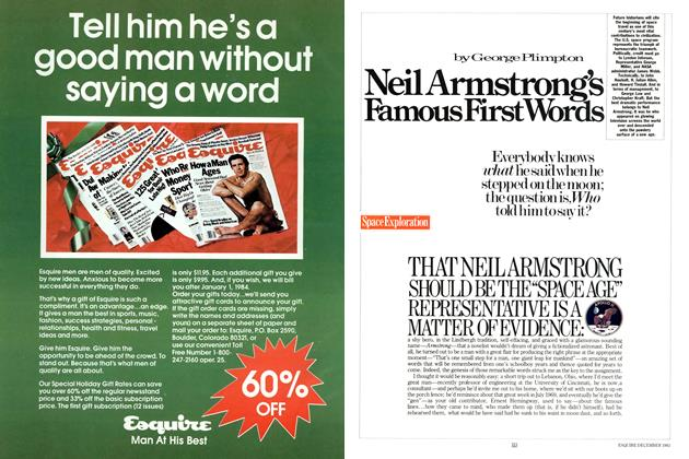 Article Preview: Neil Armstrong's Famous First Words, DECEMBER 1983 1983 | Esquire