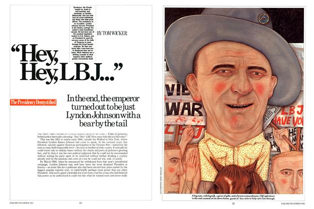 "Article Preview: ""Hey, Hey, LBJ..."", December 1983 