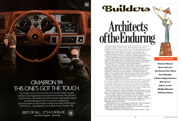 Article Preview: Architects of the Enduring, DECEMBER 1983 1983 | Esquire