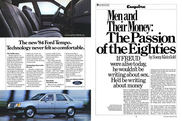 Men and Their Money: The Passion of the Eighties