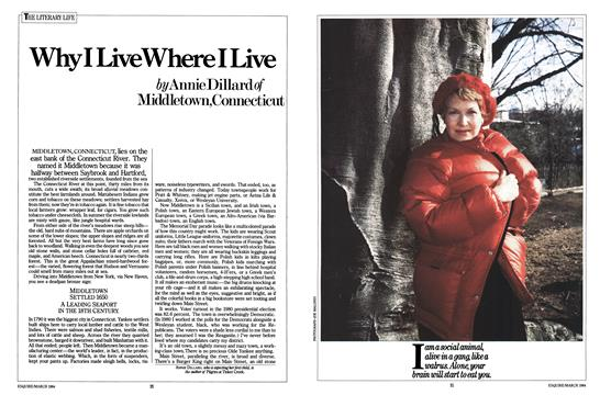 Why I Live Where I Live - March   Esquire