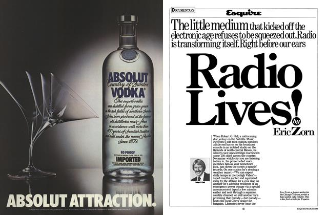 Article Preview: Radio Lives, MARCH 1984 1984 | Esquire