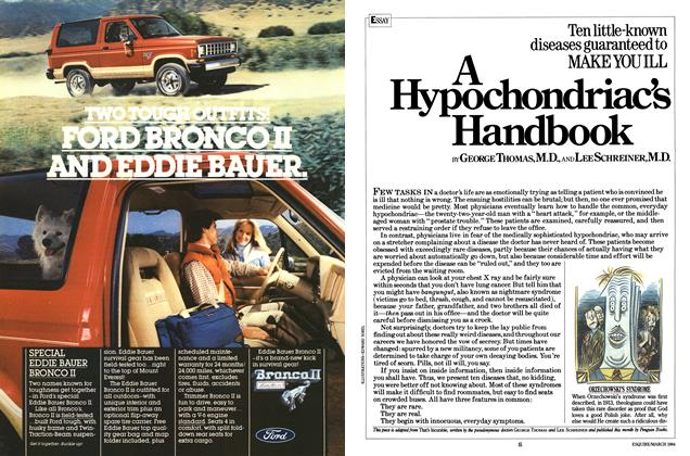 Article Preview: A Hypochondriac's Handbook, March 1984 | Esquire