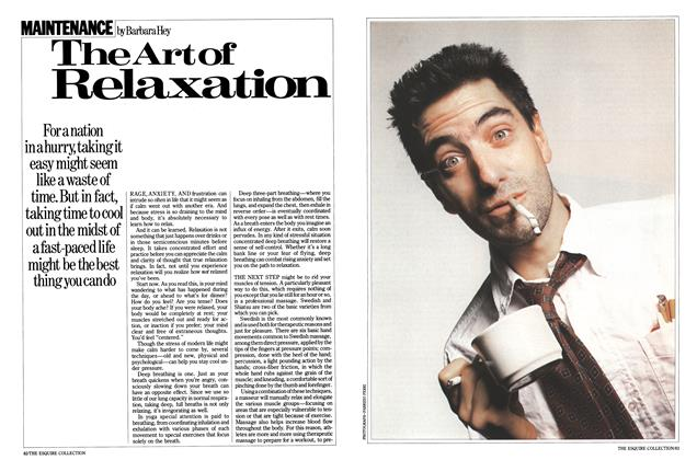 Article Preview: The Art of Relaxation, March 1984 | Esquire