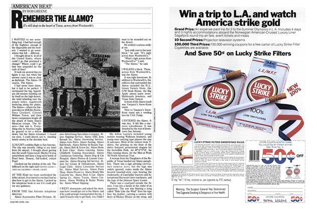Article Preview: Remember the Alamo?, APRIL 1984 1984 | Esquire