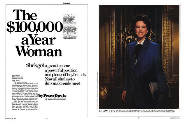 Article Preview: The $100,000 a Year Woman, JUNE 1984 1984 | Esquire