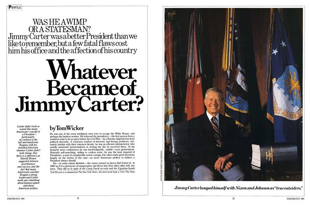 Whatever Became of Jimmy Carter?