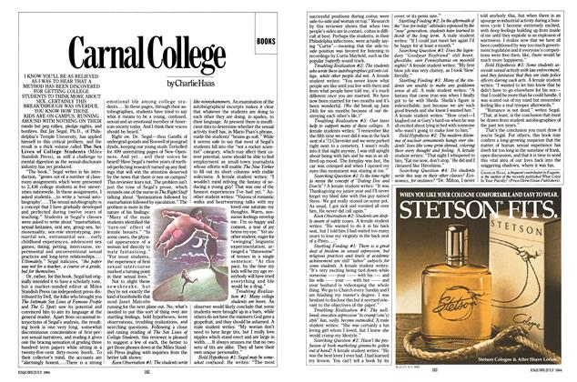Article Preview: Carnal College, JULY 1984 1984 | Esquire