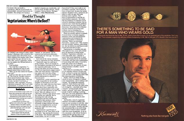 Article Preview: Vegetarianism: Where's the Beef?, July 1984 | Esquire