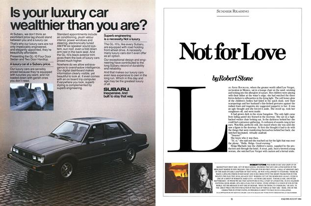 Article Preview: Not for Love, AUGUST 1984 1984 | Esquire