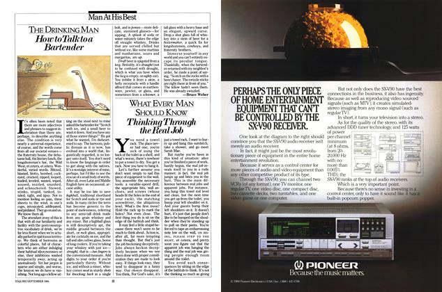 Article Preview: Thinking Through the Real Job, September 1984   Esquire