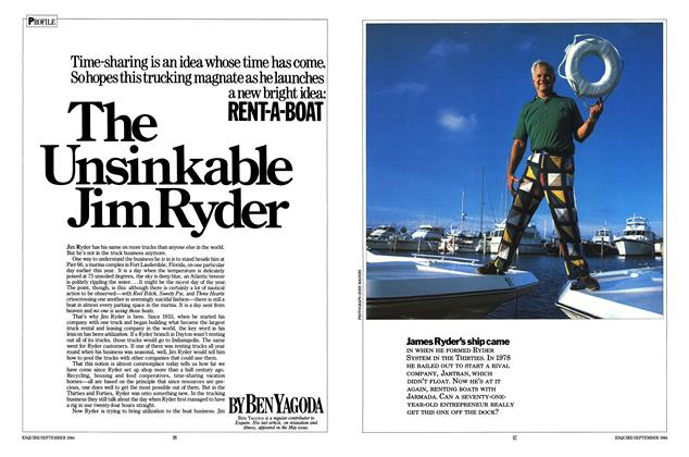 Article Preview: The Unsinkable Jim Ryder, SEPTEMBER 1984 1984 | Esquire
