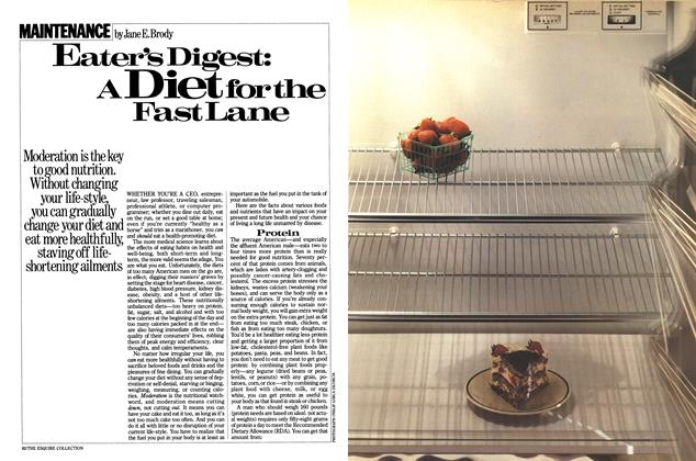 Eater's Digest: a Diet for the Fast Lane
