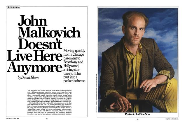 Article Preview: John Malkovich Doesn't Live Here Anymore, October 1984 | Esquire