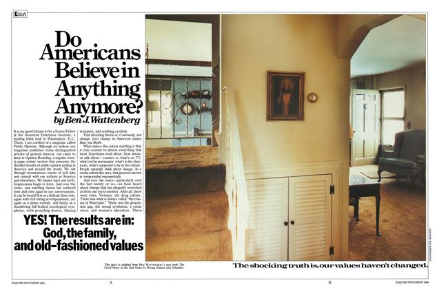 Article Preview: Do Americans Believe in Anything Anymore?, November 1984 | Esquire